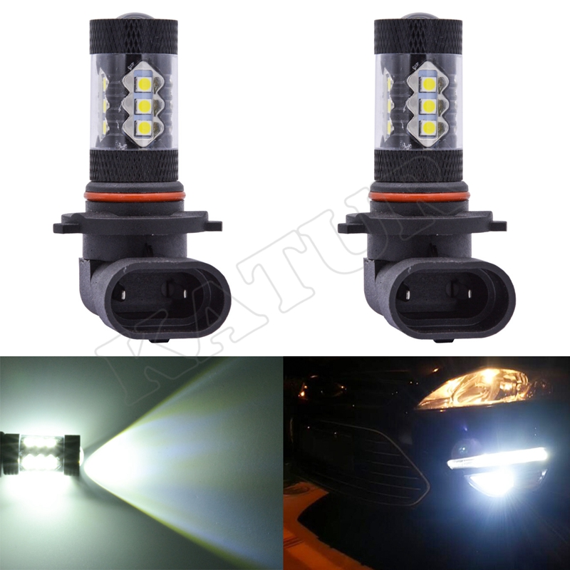 2pcs 9006 HB4 High Power 80W Super Bright 900Lm 6000K White Car Styling Light 9006 HB4 Socket LED Fog Lamps DC 12V Driving Bulbs светильник потолочный odeon light palmira 2677 8c