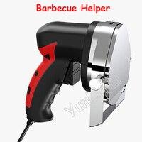 Electric Meat Cutting Helper Automatic Rotary Barbecue Circular Knife Scraper Meat Cutting Machine Barbecue Helper KS100E