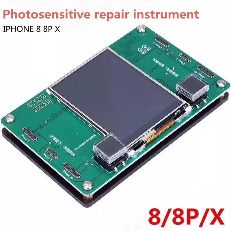 LCD Screen EEPROM Data Read Write programmer EEPROM Photosensitive Repair Tool For iPhone 8 8plus X 200pcs lot 24c04 at24c04 sop 8 serial eeprom 4k bit 400khz