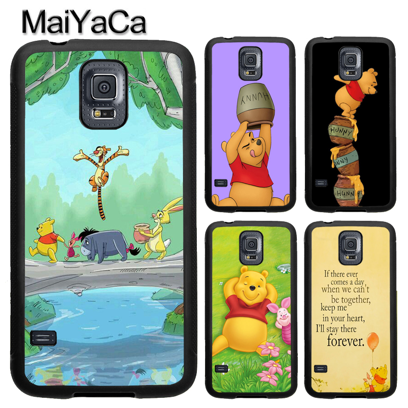 MaiYaCa Eeyore Winnie the Poohs Piglet Phone Case Fundas For Samsung S7 S5 S6 edge S8 S9 plus Note 8 Note 4 Note 5 Back Cover