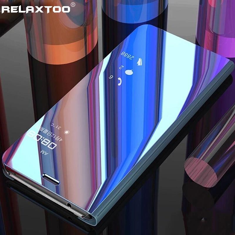 Samsung 70 50 40 30 20 10 casos de la cubierta espejo flip caso para samsung galaxy a70 a50 a40 a30 a20 a20e a10 2019 soporte
