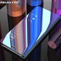 Samsung samsung 70 50 40 30 20 10 étuis miroir flip étui pour samsung galaxy a70 a50 a40 a30 a20 a20e a10 2019 étui