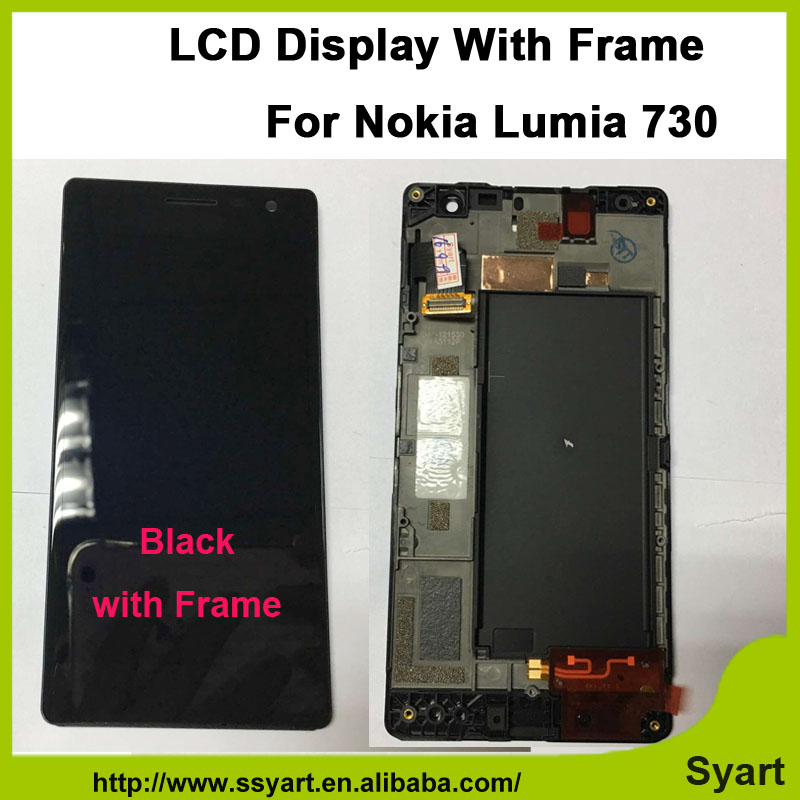 LCD Complete With Frame For Nokia Lumia 730 735 High quality Cell Phone LCD Display +touch screen with digitizer assembly