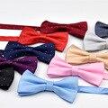 Envío Gratis 9 Colores Sólidos Pajaritas Moda Novio Hombres Colorido A Cuadros pajaritas Corbata Masculina Matrimonio Boda de La Mariposa