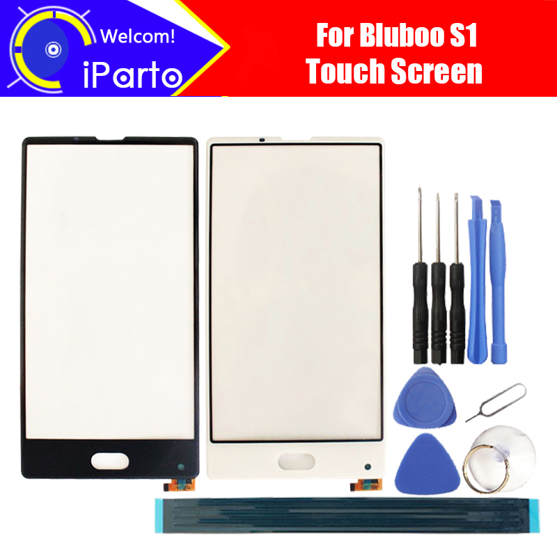 5.5inch BLUBOO S1 Touch Screen Glass 100% Guarantee Original New Glass Panel Touch Screen Glass For S1 + tools+Adhesive