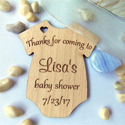 Aliexpress Buy Personalized Baby Shower Onesie Tags1st