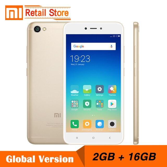 US $105 99  Global Version Xiaomi Redmi Note 5A 2GB RAM 16GB ROM Cellphone  Note 5 A Snapdragon Quad Core CPU 5 5 Inch 13 0MP B4 B20 MIUI 9-in Mobile