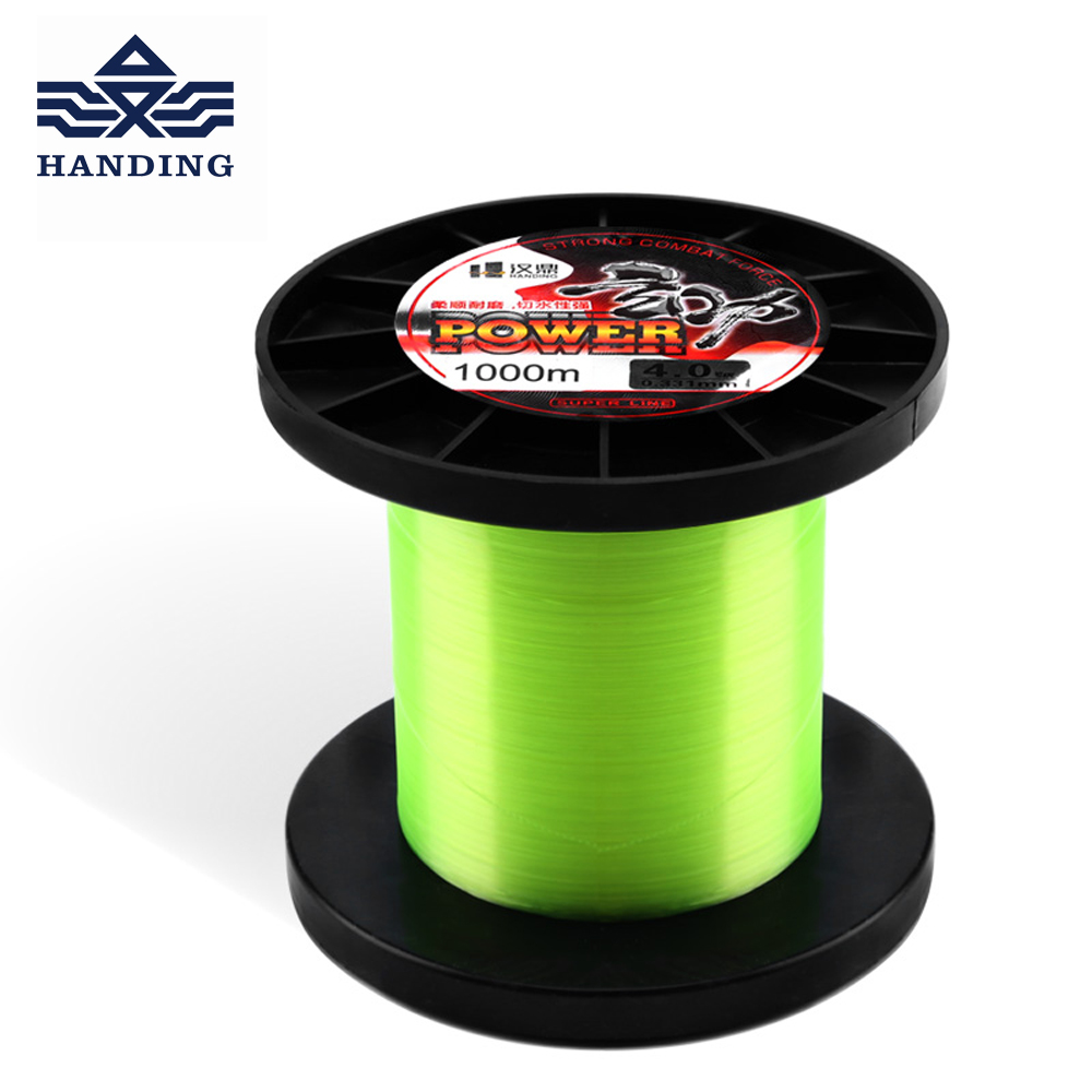 Handing 1000M fluorocarbon coating Nylon Fishing Line super Strong Monofilament carp Fishing Line Fishing tackle Fish Rope Cord