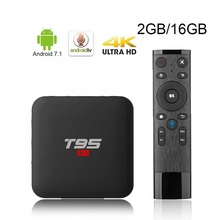 T95 S1 2GB 16GB Google voice control android 7.1 tv box S905W support StbEmu Youtube Netflix цена и фото