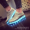 2016 hot sell childrens kids neon light  LED  Matt Silver Colorful glowing shoes with sport  casual sneakers size 35-44 TQ6076