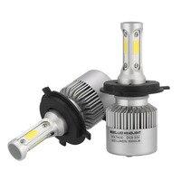Senzeal 12V S2 LED H4 LED Headlight Bulbs 108W 12000LM Hi Lo Beam COB Chips Auto