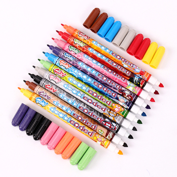 10PCS Color Double Head Comic Pen Children Drawing Tool Can Be Washing Watercolor Kindergarten School Painting Stationery - discount item  49% OFF Art Supplies