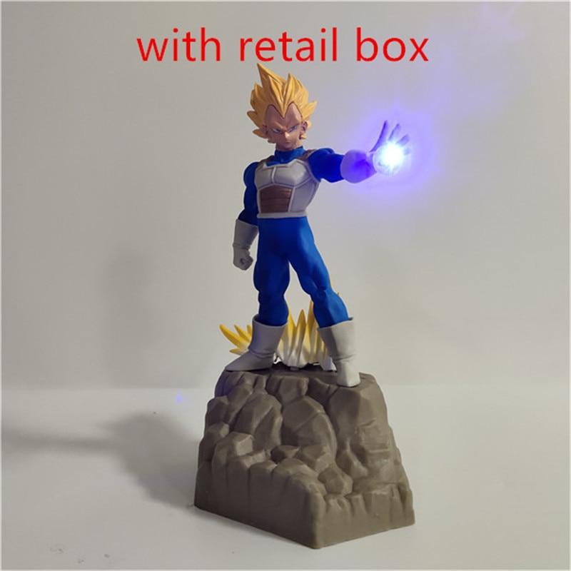 Lampara Dragon Ball Z Goku Vegeta trunks Супер Saiyan игрушки аниме Dragon Ball настольная лампа декор Освещение Сон Гоку светодиодный ночник - Испускаемый цвет: Цвет: желтый