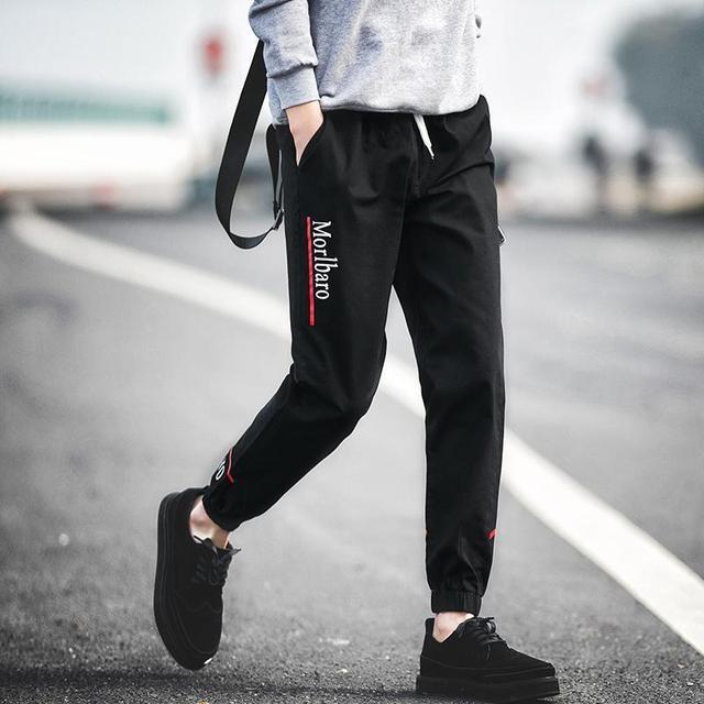 Nuevo 2017 de Los Hombres del Otoño Pantalones Casuales Pantalones Nueve Pantalones Delgados Pantalones Pies Sobre Envío Gratis