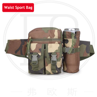 Tactical Men Sport Waist Bag Fanny Pack Travel Running Waist Bag With Detachable Water Bottle Bag