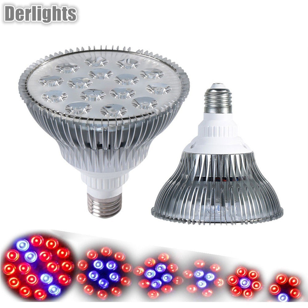 15W/ 21W/27W/36W/45W/54W Led Grow Light For Indoor Plant E27 AC85-265V Red+Blue LED Plant Grow Light Lamps for Flowering Plant 20w 30w 120w led plant grow panel light hydroponics lamps ac85 265v smd3528 for greenhouse flowering plant indoor grow box