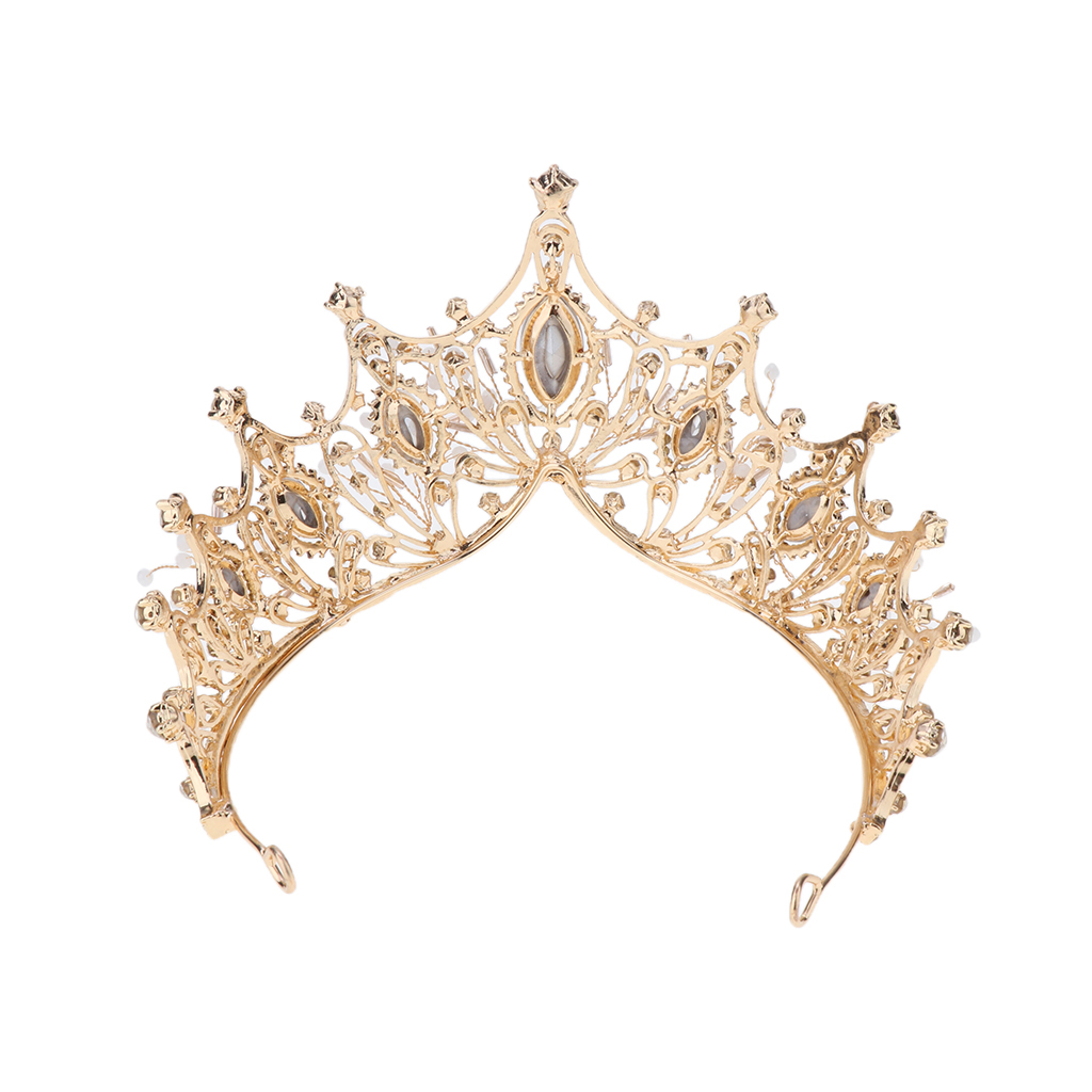 Women Tiara Golden Crystals Crown for Bride Queen Princess Birthday Pageant Prom Diadem Tiaras for Bride Wedding Hair Accessory in Hair Jewelry from Jewelry Accessories