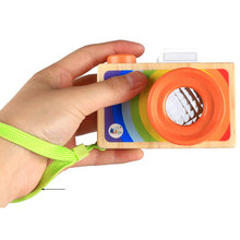Free shipping Camera model Prism/Kaleidoscope Kids toy, Childrens fun toys, Baby wooden toy