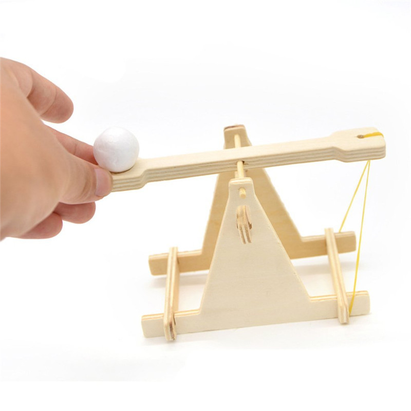 Us 344 19 Offdiy Trebuchet Model Kids Toys For Children Wooden Catapult Vehicle Kits Scientific Experiment Small Physical Invention Gifts In Model