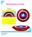 New  Wireless Charger For Samsung Galaxy S6/S6 Edge G9200 G920F G9250 G925F Captain America Shield Charging Pad