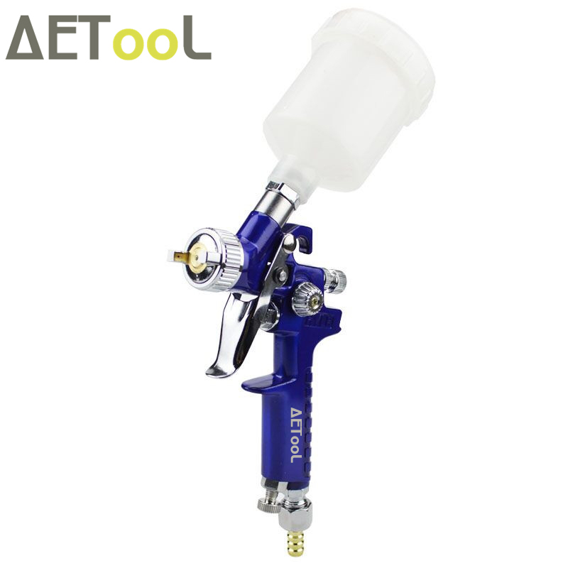 Image 2 - AETool 0.8mm/1.0mm Nozzle H 2000 Professional HVLP Spray Gun Mini Air Paint Spray Guns Airbrush For Painting Car Aerograph-in Spray Guns from Tools on