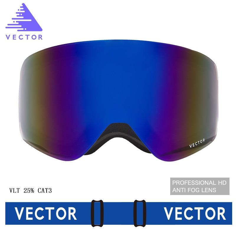 VECTEUR Ski Lunettes Hommes Femmes 2 Lentille UV400 Anti-brouillard Ski Lunettes Motoneige Snowboard Neige Lunettes De Patinage Masque de Ski lunettes - 2