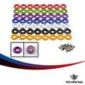 Corrida pqy-(8 pc/pacote) anodizado claro fender washer kit para honda civic acura integra eg dc ek pqy-fw31