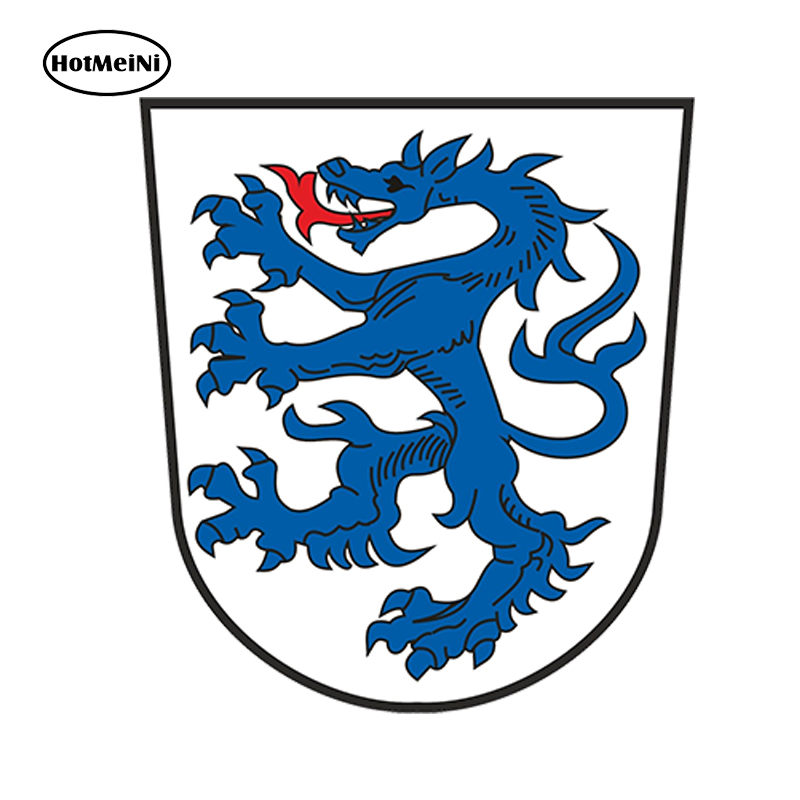 HotMeiNi Car Styling Ingolstadt GERMANY COAT OF ARMS JDM Funny CAR STICKER Waterproof Doors And Windows Accessories 13x11.2cm