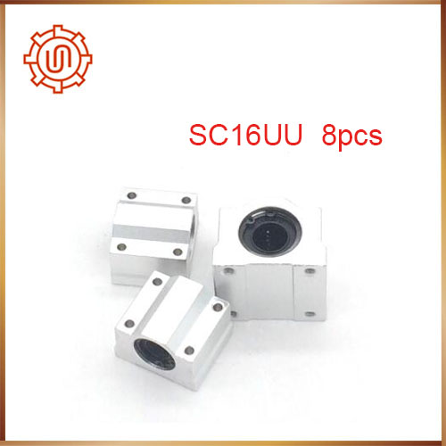 Free shipping 8pcs/lot SC16UU SCS16UU 16mm Linear Ball Bearing Linear Motion Bearing Slide Free Shipping free shipping12pcs lot 1002sr001