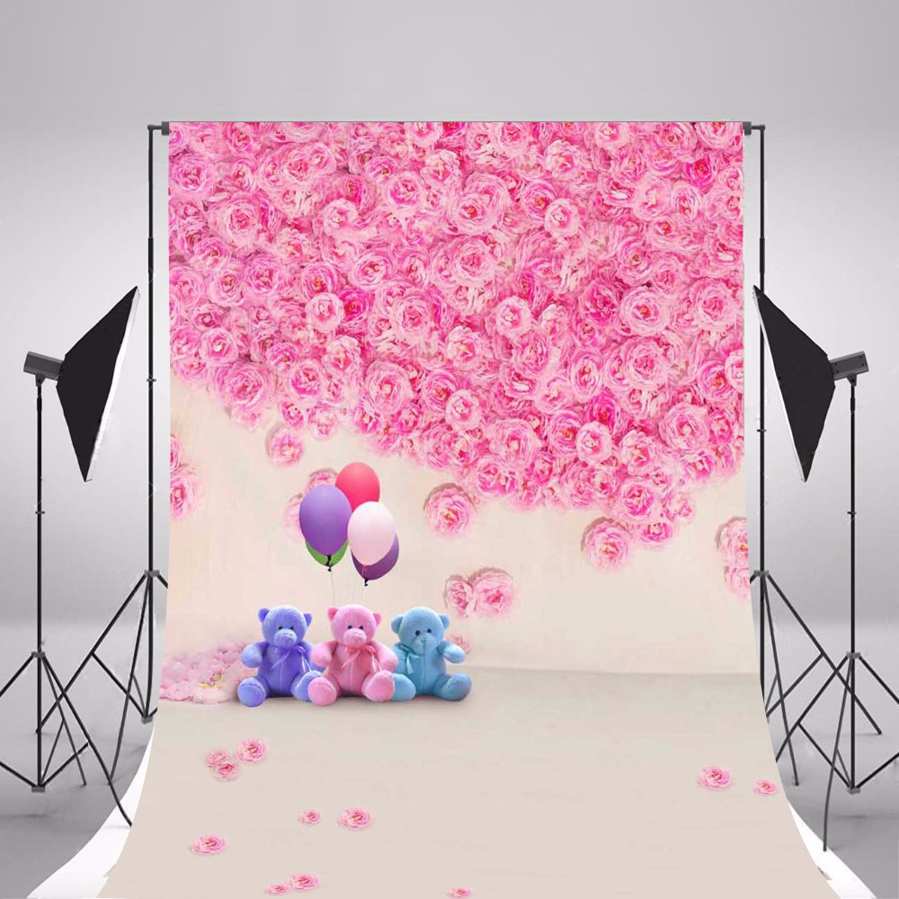 все цены на 2017 Hot Children Photographic Backgrounds Pink Flowers Photo Backdrops Thin Vinyl Backgrounds For Photo Studio Fundo Fotografia