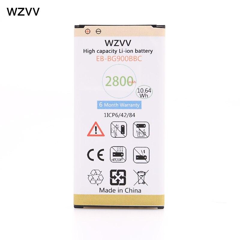 Wzvv Original 2800 mah Mit NFC Ersatz Batterie EB-BG900BBE für Galaxy S5 G900S G900F G900M G9008V 9006 v 9008 watt 9006 watt G900FD