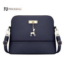 HJPHOEBAG HOT SALE! luxury Women Messenger Bags Fashion Mini Bag With Deer Toy Flap Shape Bag PU leather feminine handbag W-518