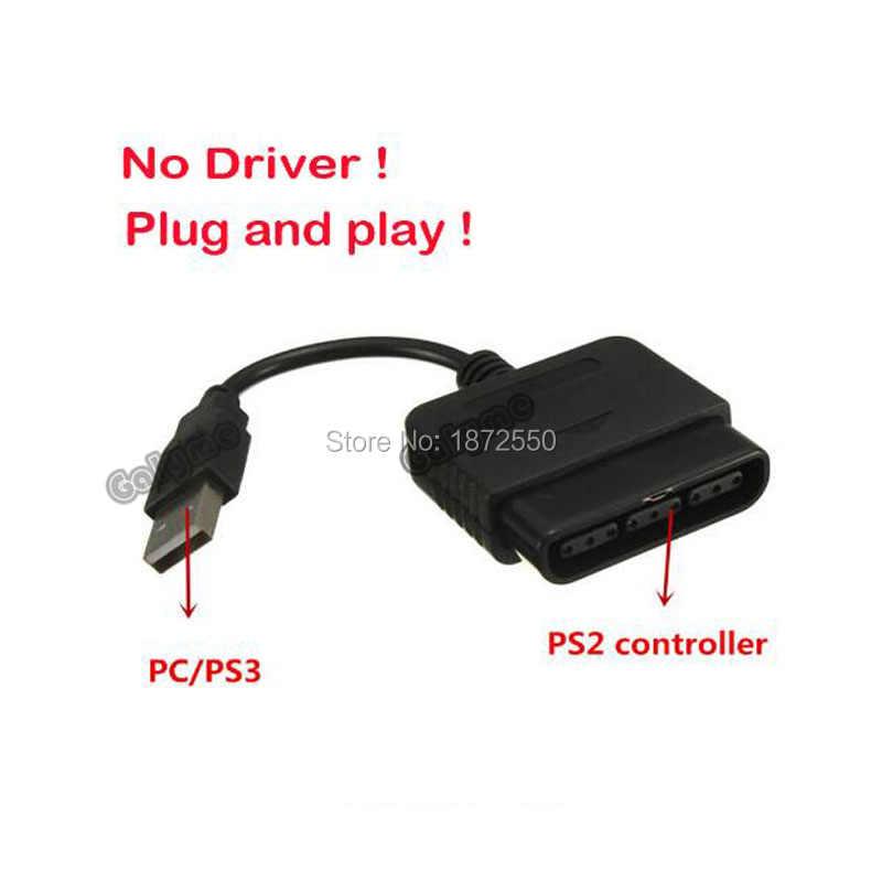 Para Sony PS1 PS2 PlayStation DualShock 2 Joypad GamePad a 3 PS3 PC USB Juegos controlador Adaptador convertidor Cable sin controlador