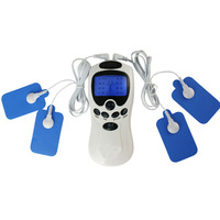 Dual Output Electrode Tens Acupuncture Therapy Massager Machine Pulse Body Slimmming Muscle Relax Health Care Equipment