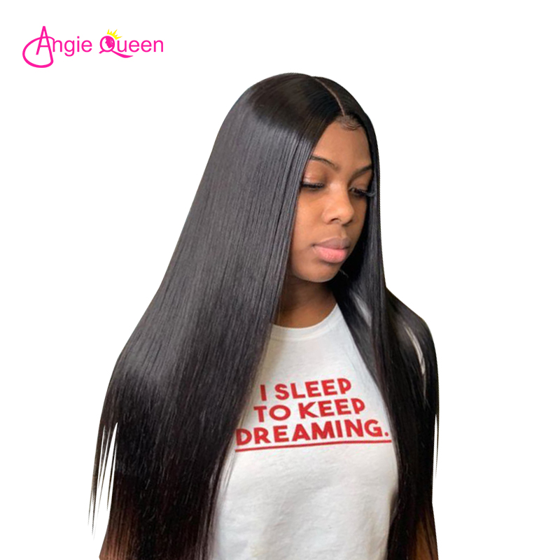 ANGIE QUEEN Brazilian Hair 100% huaman hair straight hair bundles Remy Hair 1/3 pcs bundles deal 1b natural color hair weave