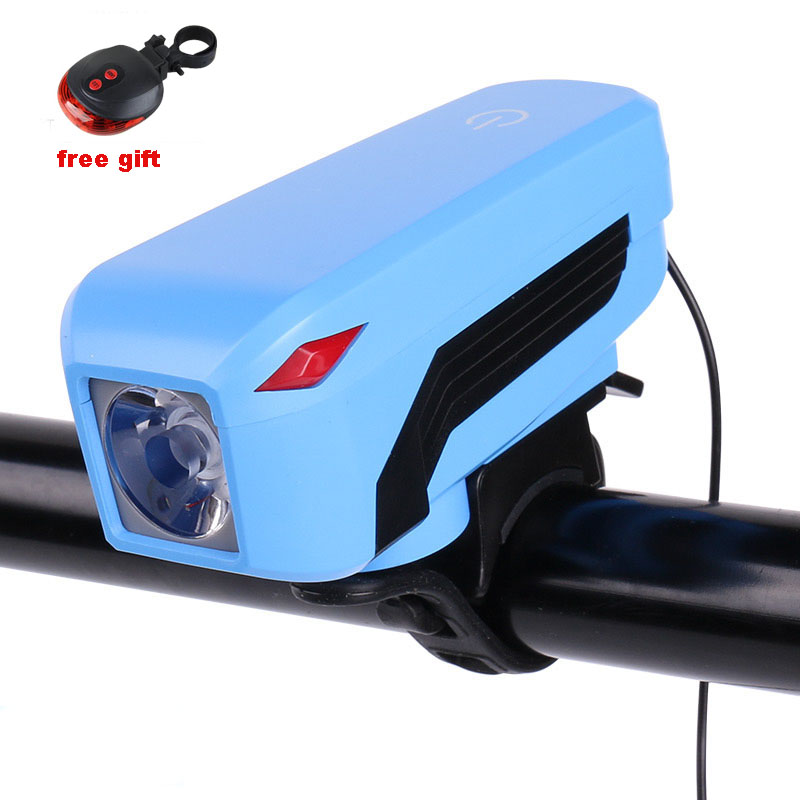 Bike Light Head LED Flashlight with Bell USB Rechargeable Luces Bicicleta Bike 4mode T6 Lamp MTB Road Bike Cycling Bicycle Light wheel up bike head light cycling bicycle led light waterproof bell head wheel multifunction mtb lights lamp headlight m3014