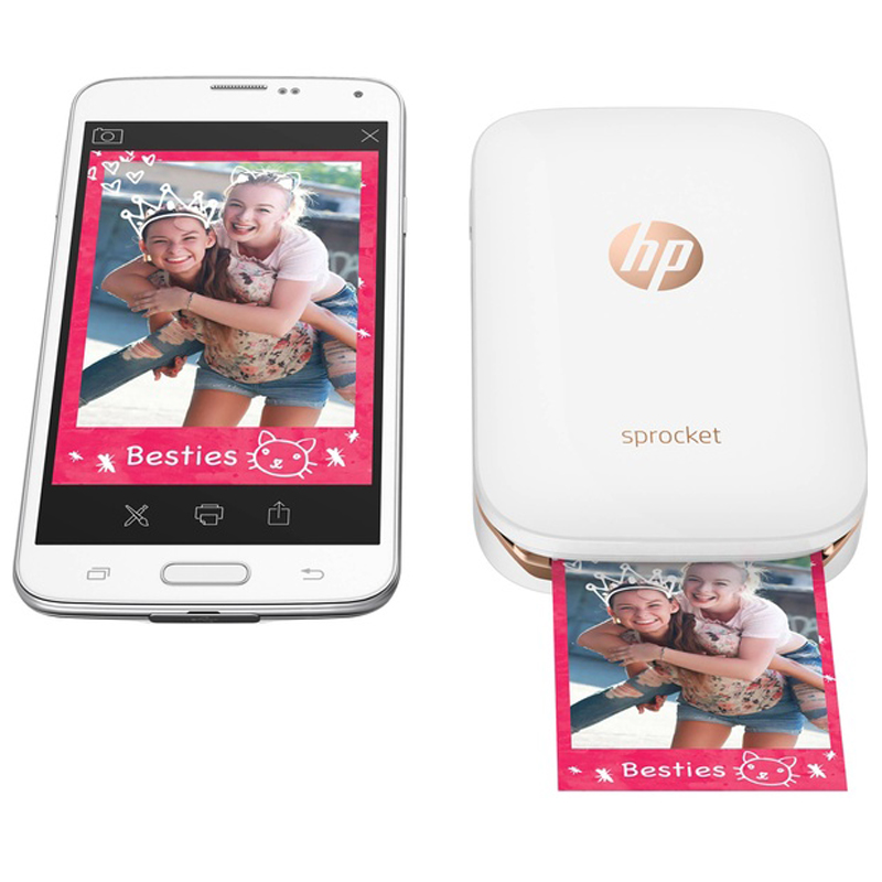 HP Sprocket Portable Photo Printer for 5 7 6cm 2x3 inch Sticky Backed Zink Photo Paper Easy To Print Social Media Photos in Printer Ribbons from Computer Office