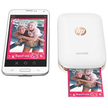 HP Sprocket Portable Photo Printer for 5*7.6cm (2x3-inch) Sticky-Backed Zink Paper Easy To Print Social Media Photos