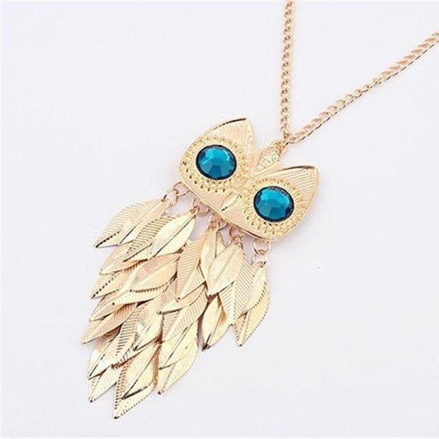 Owl Pendant Chain Necklace