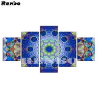 5pcs 5D diy diamond painting Mandala Picture,square drill,full diamond embroidery Abstract,mosaic needlework home decoration