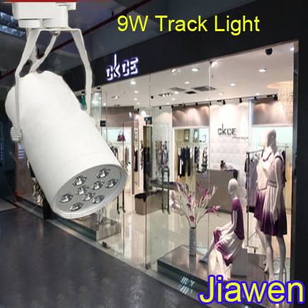 Open-Minded 9w Led Track Light,ac85~265v,ce & Rohs,900lm,white Shell, Cool White/warm White Free Shipping By China Post Easy To Repair