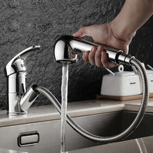 Brushed Kitchen Faucet Pull Out With Spray Kitchen Tap Torneira Cozinha Sink Single Handle Deck Mounted 360 Rotation Tap