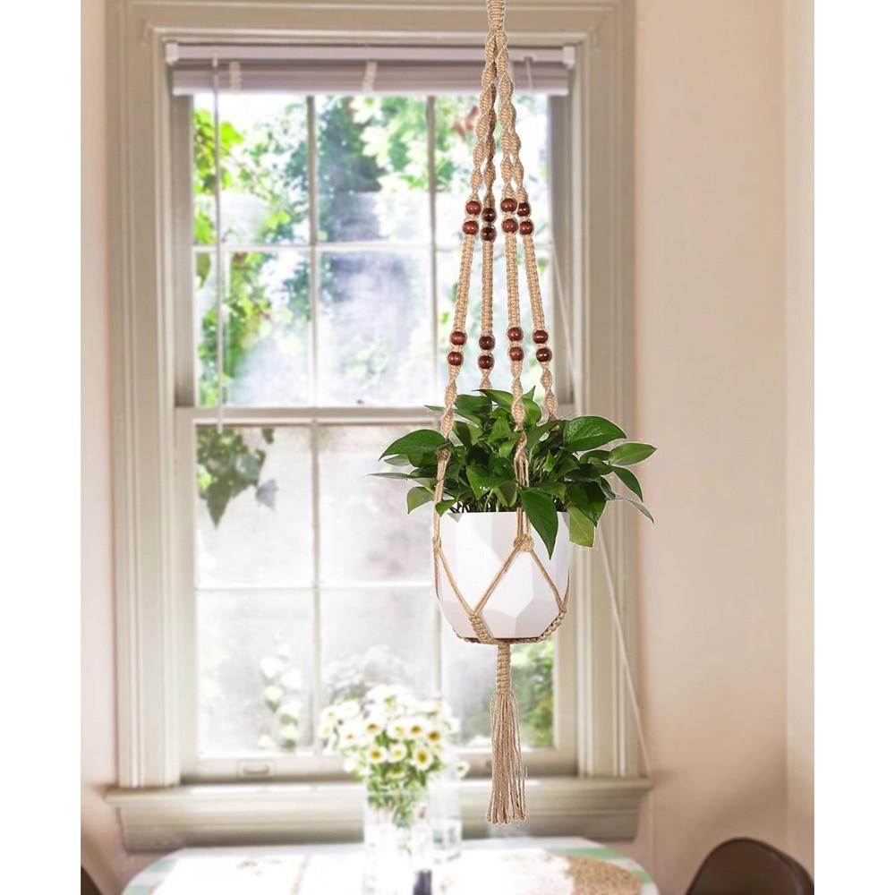 buy hanging macrame plant hanger planter. Black Bedroom Furniture Sets. Home Design Ideas