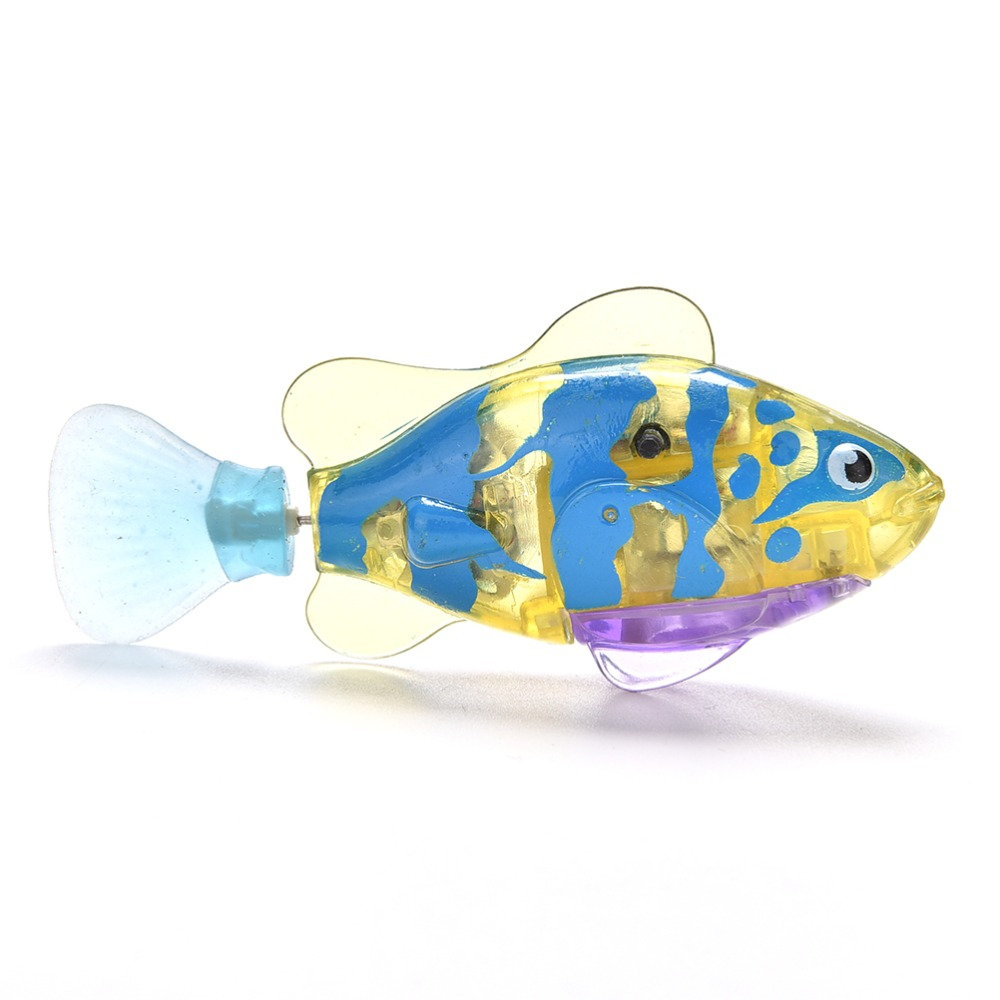 Funny swim electronic pets robofish activated battery for Battery operated fish