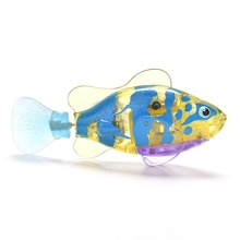 Funny Swim Electronic Pets Robofish Activated Battery Powered Robo Toy fish Robotic Pet for Fishing Tank Decorating Fish(China)