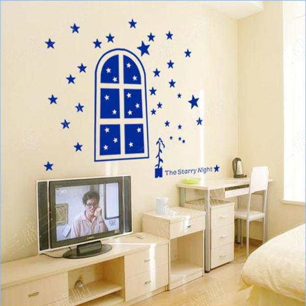 real estrellas decoracin de la pared ventana babyroom nursery etiqueta del vinilo