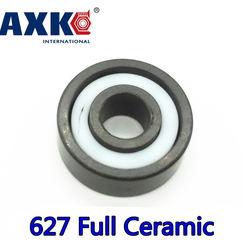Axk 627 Full Ceramic Bearing ( 1 Pc ) 7*22*7 Mm Si3n4 Material 627ce All Silicon Nitride Ceramic Ball Bearings axk 6808 full ceramic bearing 1 pc 40 52 7 mm si3n4 material 6808ce all silicon nitride ceramic 6808 ball bearings