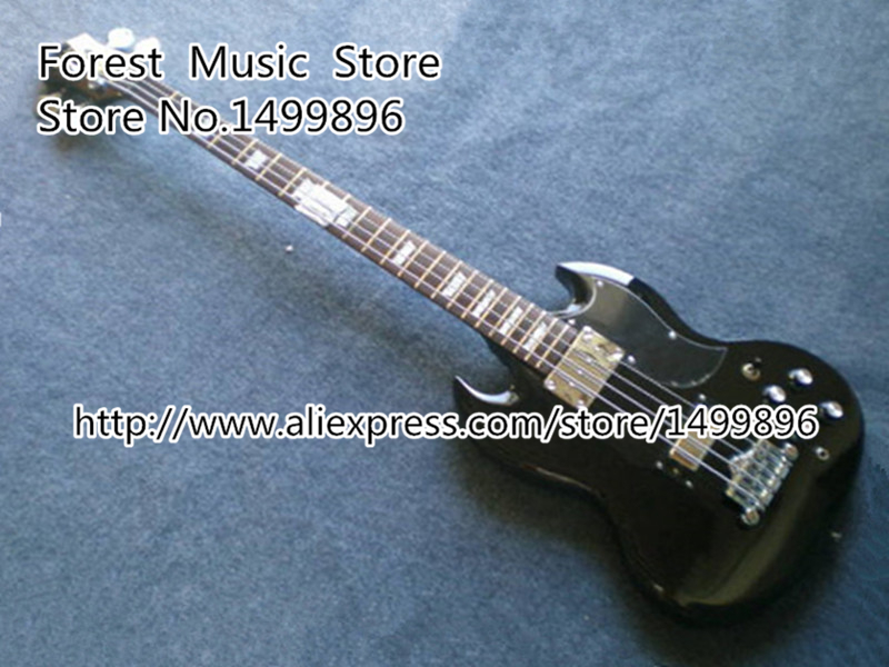 High-quality Black Electric Bass Guitar 4 String SG Bass Guitar China Rosewood Fingerboard In Stock electric bass guitar 2016 new 4 string bass guitar bass guitar guitar in china