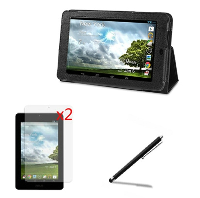 """4in1 Luxury Magnetic Folio Stand Leather Case Protective Cover +2x Films +1x Stylus For ASUS Memo Pad 7 ME172V ME172 7"""" Tablet"""