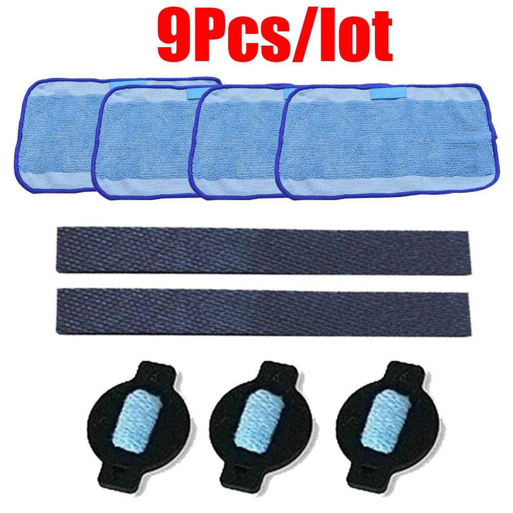 9pcs/lot Robot Wheel Tire Mop Cloth Water Cap Replacment For IRobot Braava 320 380 381 380T 390 390T Mint 4200 4205 5200 5200C